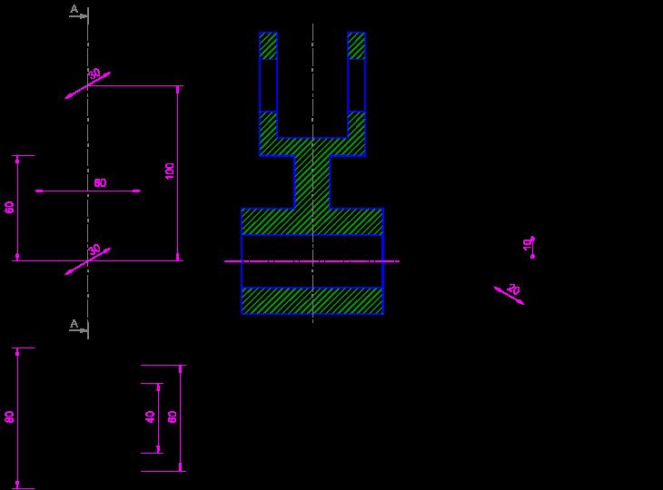 3 vistas di dricas la croquizaci n for Plano de planta dibujo tecnico