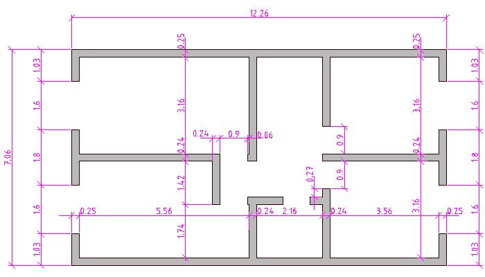 Dibujo de plano con medida - Imagui