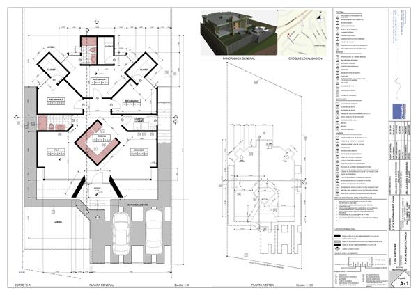 3 dibujo de construcci n for Planos de arquitectura de casas pdf