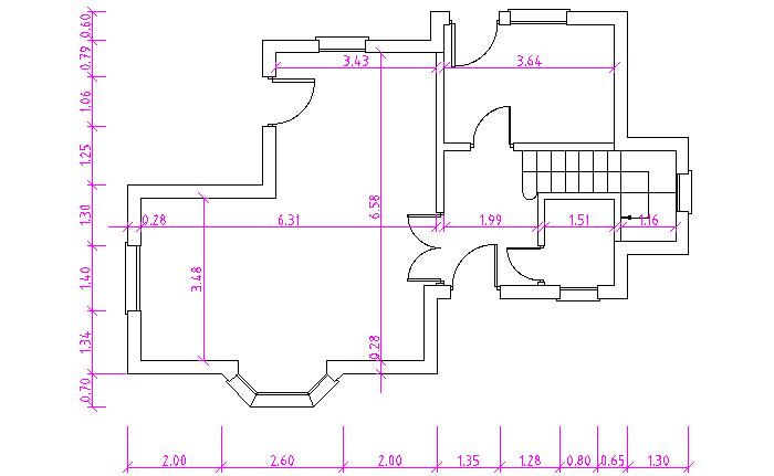 2 acotaci n for Plano de planta dibujo tecnico