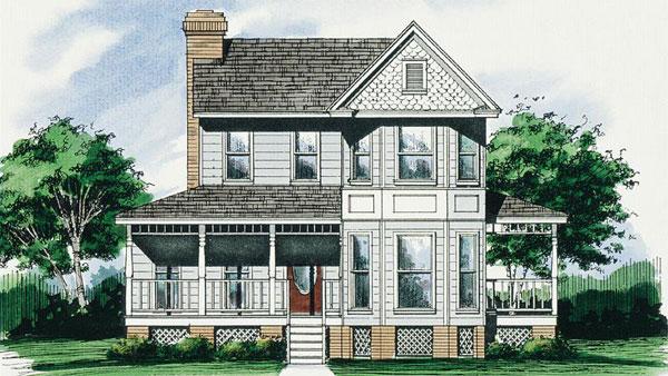 1 planta for Planos de casas norteamericanas