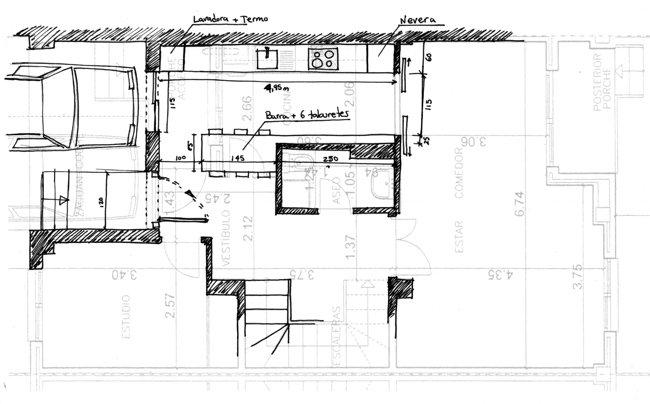 2 dise o o planificaci n for Medidas de muebles de cocina integral