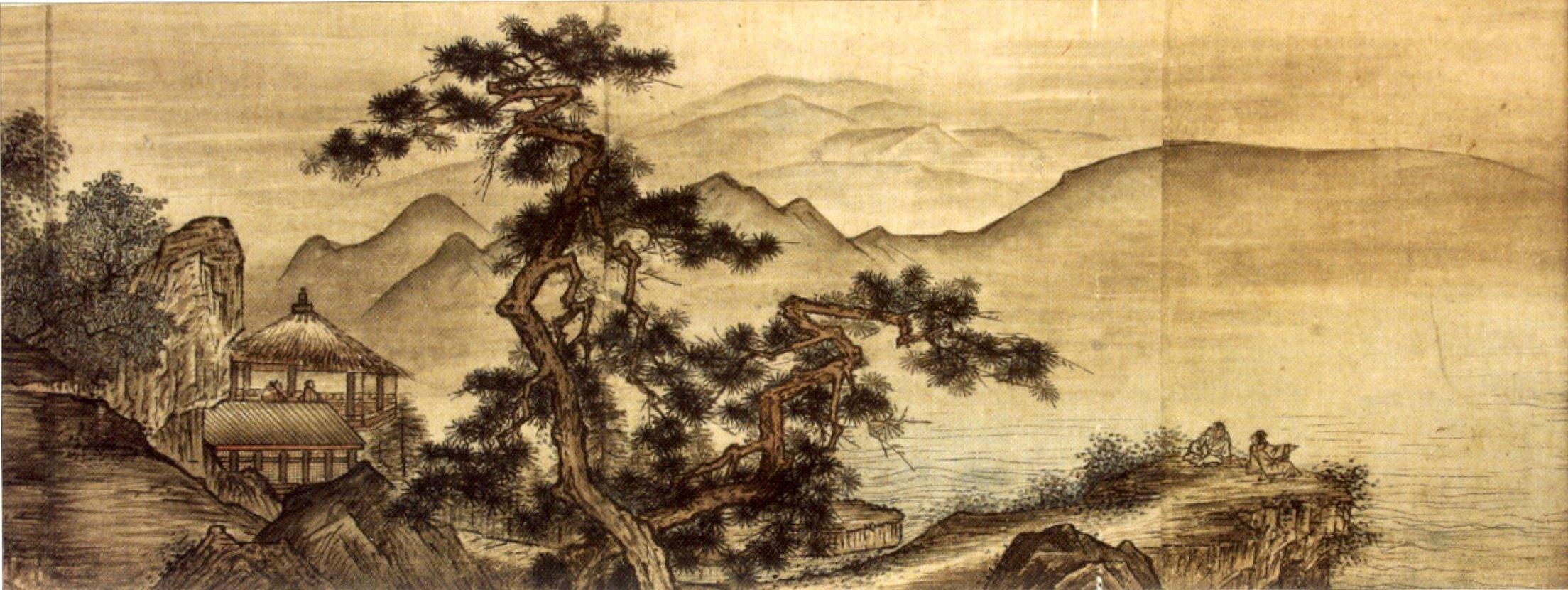 Resultado de imagen de dibujo paisaje chino