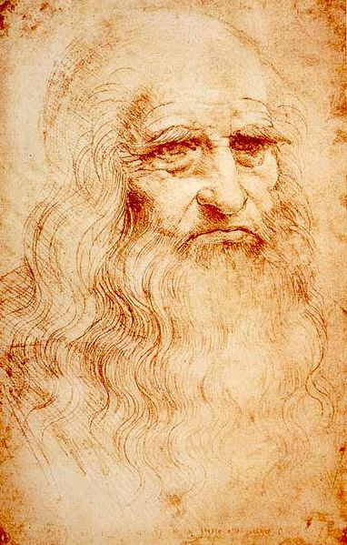 Autorretrato.Leonardo Da vinci. Imagen de dominio público vía wikimedia Commons