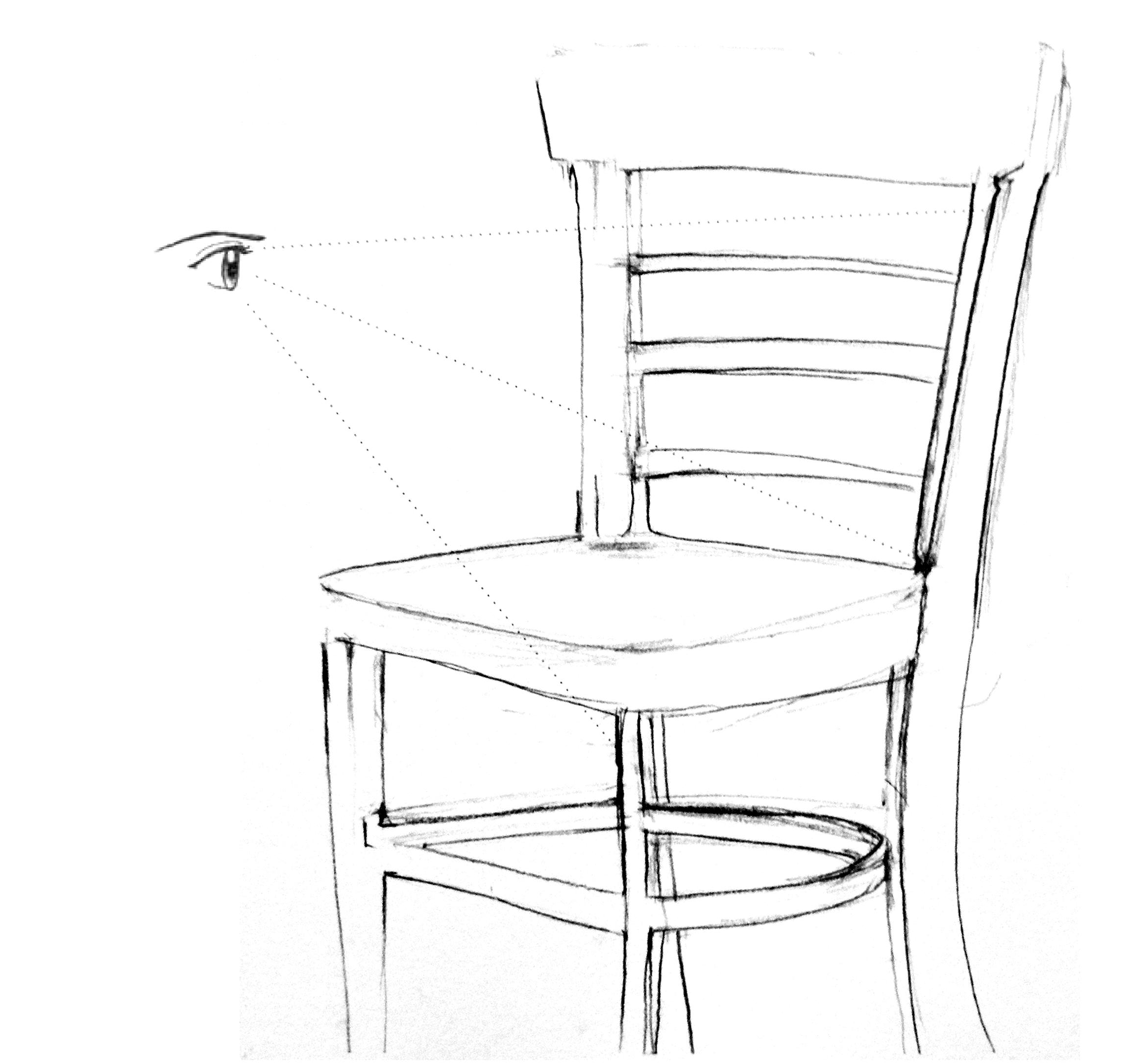 1 el proceso de dibujo for Sillas para dibujar facil
