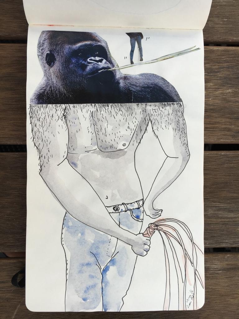 gorila collage