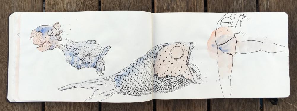 manchas peces nadador