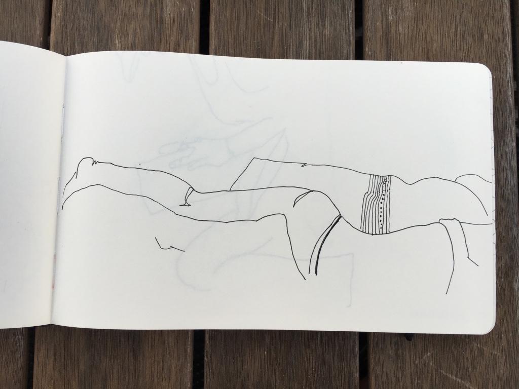 mujer tumabada lineas