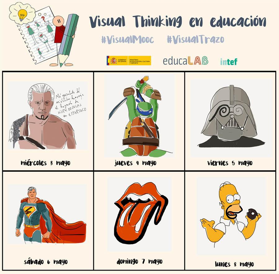 calendario con dibujos #visualtrazo #visualmooc