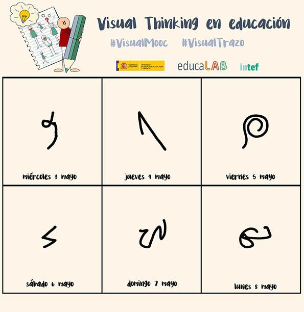 calendario con trazos #visualtrazo #visualmooc